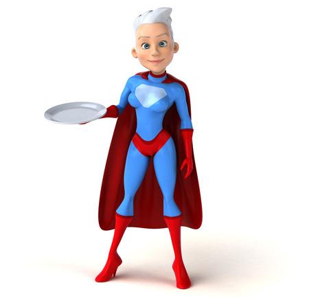 plato del buen comer: Super mujer