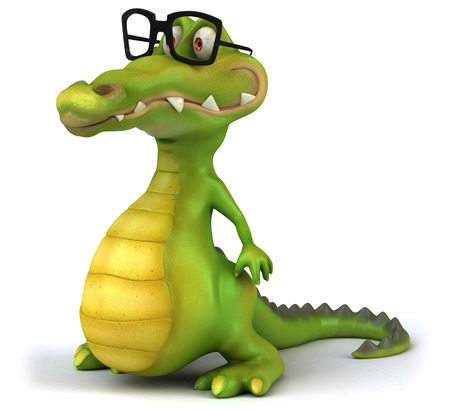 Crocodile with spectacles