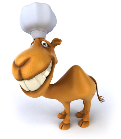 Camel chef grinning