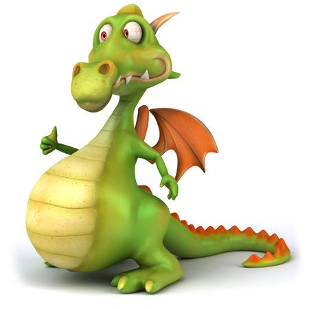 Cartoon dragon showing thumbs up Stock Photo