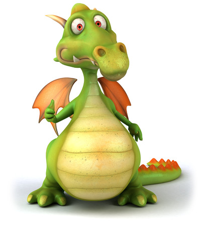 Cartoon dragon with thumbs up gesture