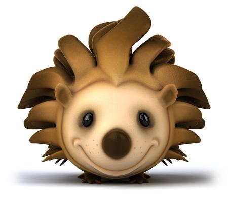 Cartoon hedgehog smiling Stock Photo
