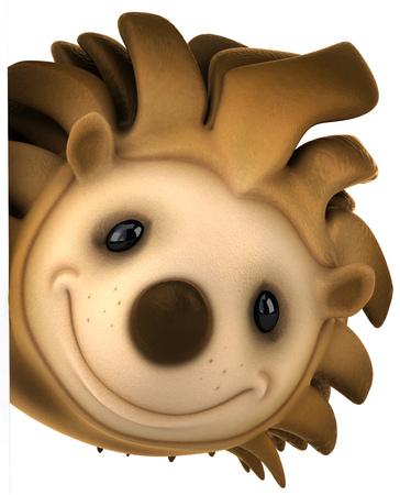 만화 고슴도치 미소
