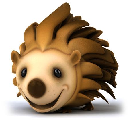 length: Cartoon hedgehog smiling Stock Photo