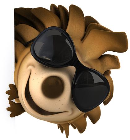 Cartoon hedgehog with sunglasses Stock Photo