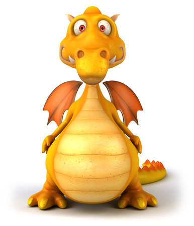Cartoon dragon standing