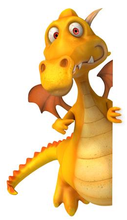 Cartoon dragon pointing