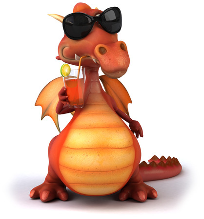 Dragon wearing sunglasses Stock Photo