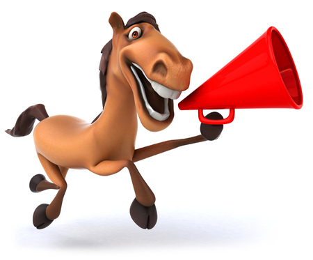 Horse with megaphone