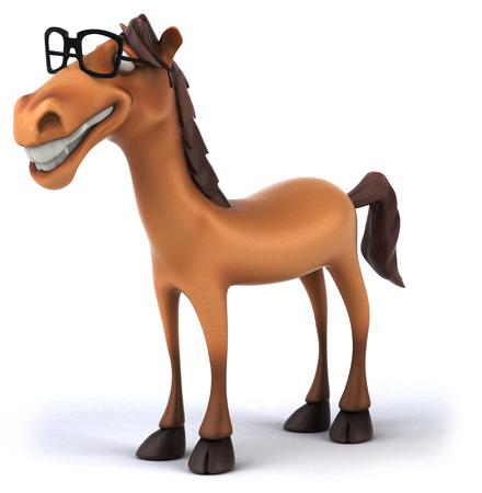 Horse wearing glasses