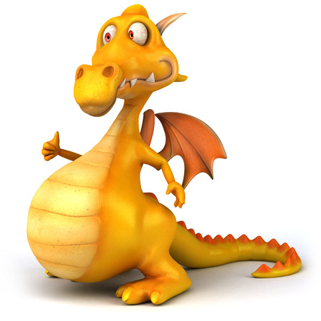 Dragon gesturing thumbs up Stock Photo