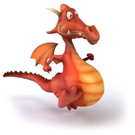 Dragon running Stock Photo