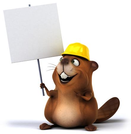 carpentry cartoon: Fun beaver