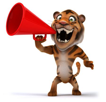 Fun tiger Stock Photo