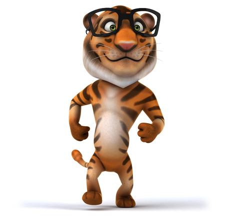 cat's eye glasses: Fun tiger Stock Photo