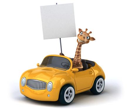 Giraffe Fun Archivio Fotografico - 59910513