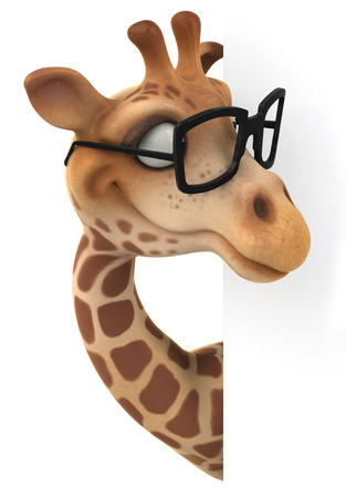 Giraffe with glasses