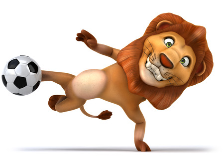 sorting out: Fun lion
