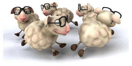 sheperd: Fun sheep Stock Photo