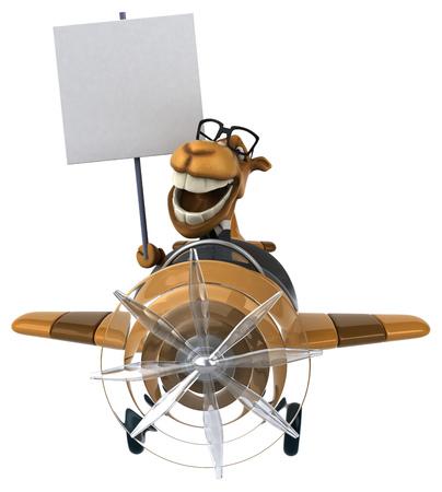 aerial animal: Fun camel