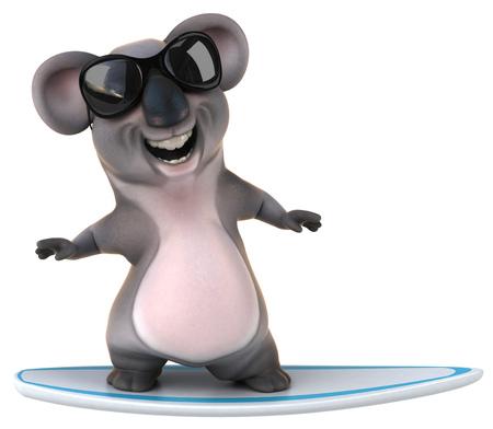 studio zoo: Fun koala Stock Photo