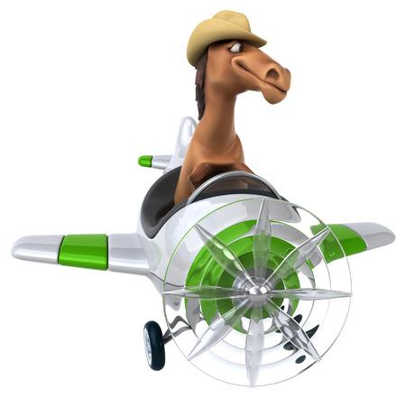 aerial animal: Fun horse