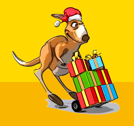 Fun kangaroo Stock Photo