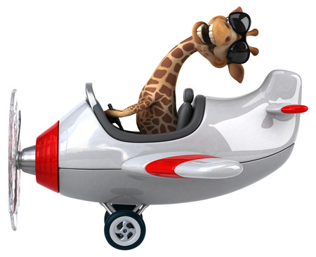 aerial animal: Fun giraffe