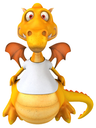 Dragon with a white tshirt Stock Photo