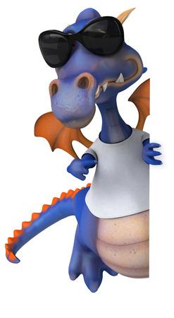 Dragon with a white tshirt Stock Photo