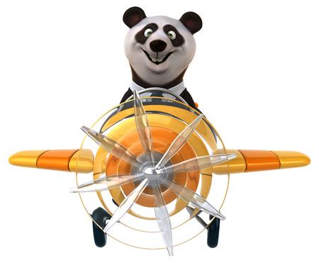 aerial animal: Fun panda