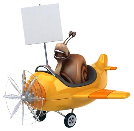 aerial animal: Fun snail