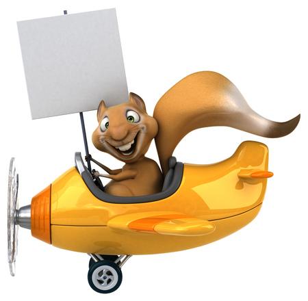 aerial animal: Fun squirrel