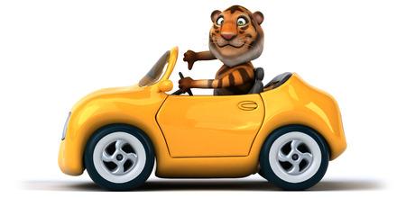 aerodynamic: Fun tiger Stock Photo