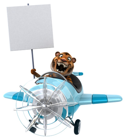 aerial animal: Fun tiger Stock Photo