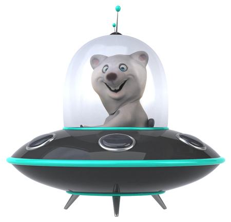 platillo volador: oso divertido