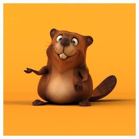 whisker characters: Fun beaver