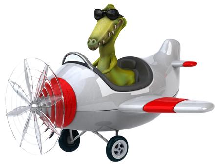 aerial animal: Fun dinosaur