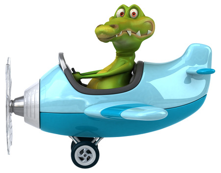 aeronautical: Fun crocodile