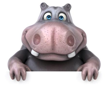 hippopotamus: hipopótamo divertido