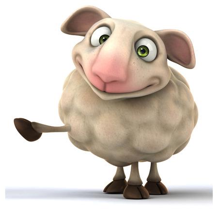 studio zoo: Fun sheep Stock Photo