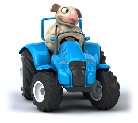 go for: Fun sheep Stock Photo