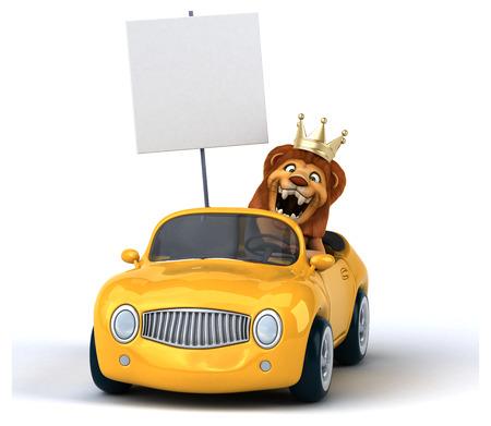 windscreen: Fun lion