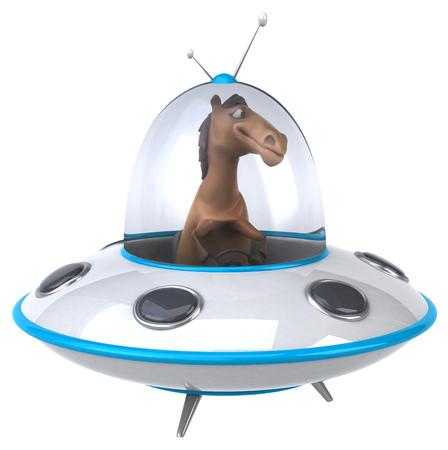 space invader: Fun horse