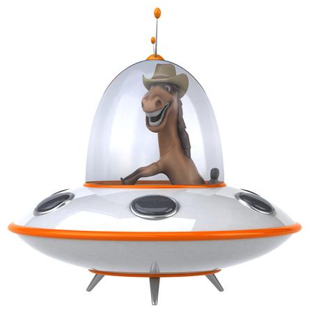 platillo volador: caballo divertido