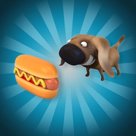 hot: Hot dog Stock Photo