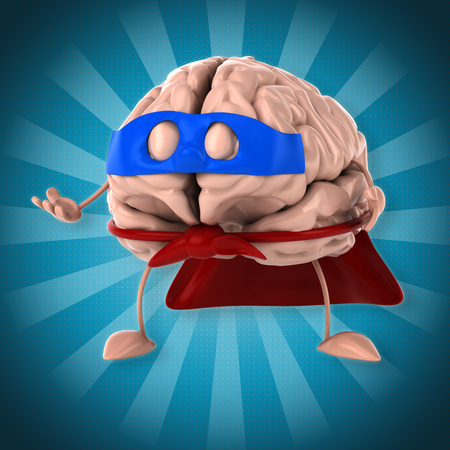 mentality: Super brain Stock Photo