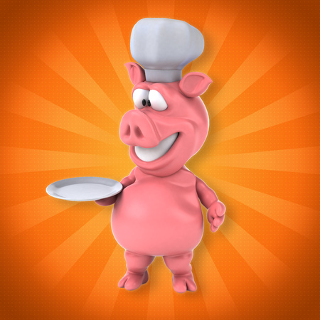 Fun pig Stock Photo