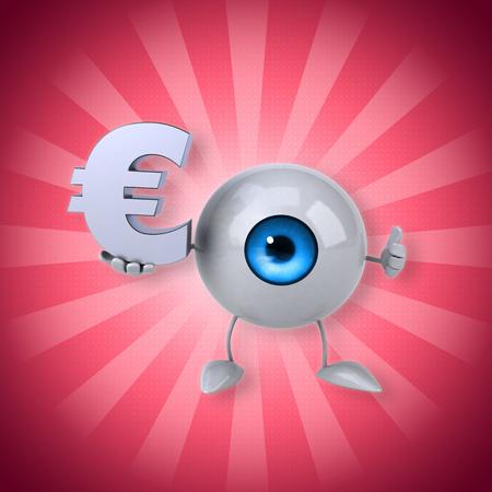 retina: Eyeball holding a Euro symbol