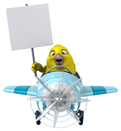 aerial animal: Yellow bird
